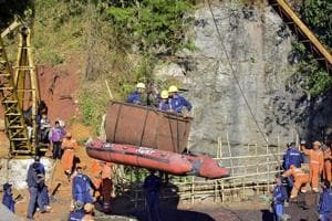 Officials in Meghalaya will make a fresh attempt on Tuesday to pull out the decomposing body of one of the miners trapped in an illegal coal mine in the state's East Jaintia Hills district since December last year after the Indian Navy suspended its operations to retrieve it.
