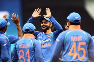 File picture of Virat Kohli with the Indian team