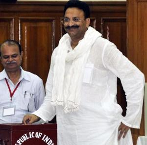 Jailed MLA Mukhtar Ansari was arrested by the Mohali police for allegedly trying to extort money from a Mohali-based builder (File Photo)