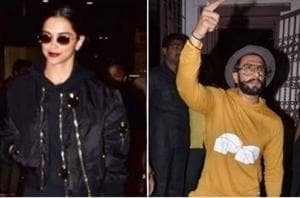 Deepika Padukone and Ranveer Singh were spotted in Mumbai on Wednesday.