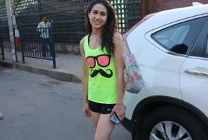 Sara Ali Khan is refreshing in neon gym wear.