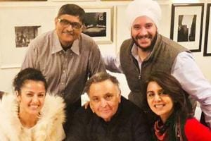 Rishi and Neetu Kapoor with their friends.