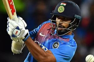 Shikhar Dhawan fails to play a ball off Australia
