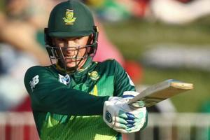 Rassie van der Dussen of South Africa bats during the 2nd One Day international match between South Africa and Pakistan.