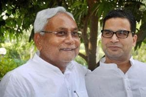 Bihar Chief Minister Nitish Kumar with his party vice-president Prashant Kishor.