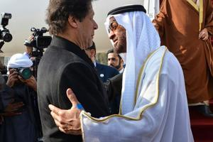 Pakistan and the United Arab Emirates (UAE) on Tuesday signed a USD 3 billion bailout package, as part of Abu Dhabi's support to boost the cash-strapped country's dwindling dollar reserves.