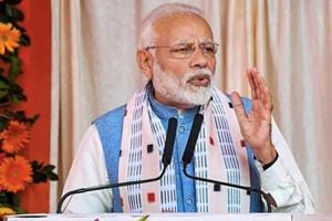 Prime Minister Narendra Modi addresses during the inauguration of various projects in Balangir, Odisha, Tuesday, Jan 15, 2019.