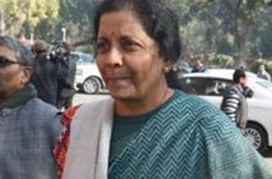 Defence Minister Nirmala Sitharaman Wednesday said the government was focusing on promoting domestic defence production . (Photo by Sonu Mehta/ Hindustan Times)