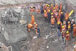 6 killed, many trapped after four-storey building collapses in Gurugram