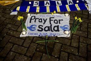 Tributes left outside stadium for Emiliano Sala