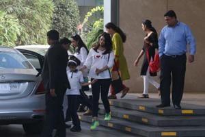 Aishwarya RaBachchan and Aaradhya spotted in Mumbai.