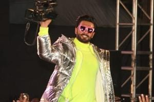 Ranveer Singh performs at the Gully Boy music launch event in Mumbai.