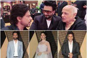 Alia Bhatt, ShahRukh  Khan,Akshay Kumar and Ranveer Singh were among the many to attend Mukesh Bhatt's daughter Sakshi's reception.