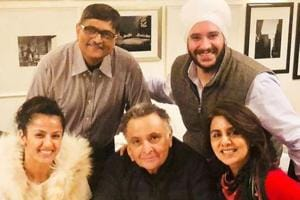 Neetu Singh often shares pictures of family and friends visiting them in New York. Rishi Kapoor, seen here, in her latest pic.