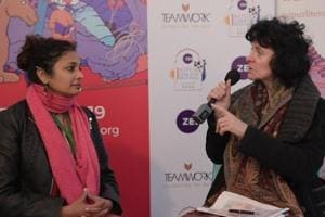 In conversation with poet Ruth Padel at Jaipur Literature Festival 2019