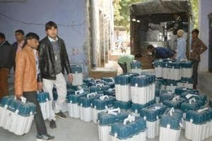 Voting in Rajasthan's Ramgarh assembly constituency on Monday