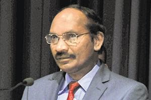 K Sivan, chairman, ISRO during National Space Science Symposium 2019 at IUUCA  on Tuesday.