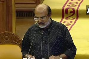 Kerala Finance Minister TM Thomas Isaac presenting Budget 2019-20 in the state assembly on Thursday.