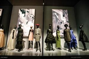 Costumes by Dior designers Marc Bohan and Yves Saint Laurent are on show at