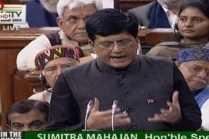 Finance Minister Piyush Goyal presenting Budget 2019 in Parliament