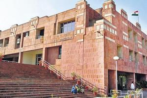 The administrative building of JNU.