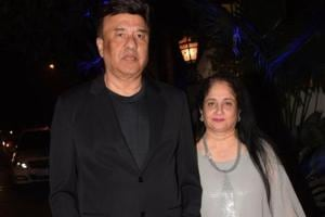 Singer Anu Malik arrives to attend the birthday celebrations of actor Sanjay Khan in Mumbai.