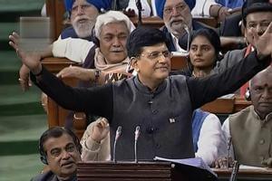 Finance Minister Piyush Goyal presents the interim Budget 2019-20 in Lok Sabha on  Friday.