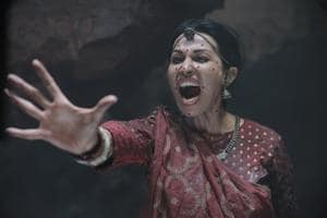 """Flora Saini played the ghost in the Rajkummar Rao-starrer Stree. """"I had no lines to memorise, so I could enjoy the experience of being a horror film buff on a horror film set,"""" she says. """"But throughout my shooting time, I was suspended in mid-air. We would shoot all night, so I was hanging there all night, wearing a harness over my sari that really started to hurt my ribcage."""""""