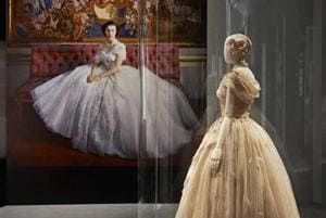 A picture of one of the aspects of the Dior exhibition in London