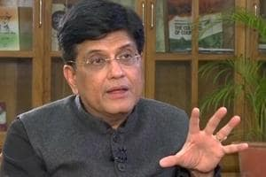 Finance Minister Piyush Goyal during an interview with ANI in New Delhi on Friday.