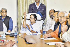 Mamata makes history with cabinet meeting in traffic outpost