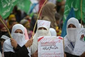 A protest rally being held in Islamabad on Tuesday to mark Kashmir Solidarity Day.