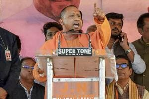 Yogi Adityanath, who was denied permission to fly to Bengal by helicopter, travelled by road from Bokaro in BJP-ruled Jharkhand to address the rally.