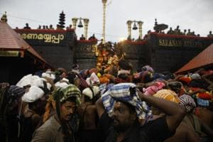 The Supreme Court  is hearing a review petition against its September verdict allowing women of menstruating age to enter Kerala's famed Sabarimala shrine.