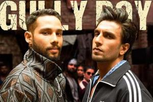 Ranveer Singh and Siddhant Chaturvedi in a poster of Gully Boy.