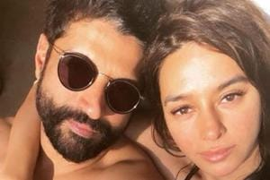 Farhan Akhtar and Shibani Dandekar often share such intimate pictures on social media.