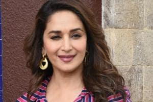 Madhuri Dixit is promoting her movie Total Dhamaal.