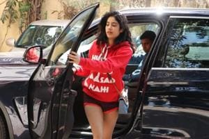 Janhvi Kapoor snapped on her way to the gym.