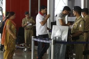The Union civil aviation ministry has commissioned a survey to find out what kind of security jobs at airports can be outsourced to private agencies in an effort to cut costs. HT Photo By Sonu Mehta