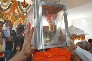 Devotees of Hinglaj Mata have brought the