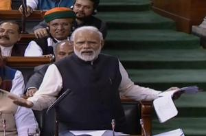 Prime Minister Narendra Modi replying to debate on motion of thanks to the President