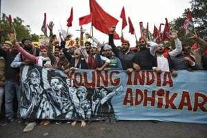 Photos | Dissent on the streets: Young India Adhikar March in Delhi
