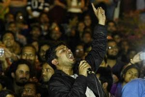 Kanhaiya Kumar addresses students after his release