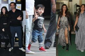 Arjun Rampal with his rumoured girlfriend Gabriella Demetriades, Taimur Ali Kan, Malaika Arora and Amrita Arora spotted in Mumbai.