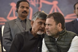 Chandrababu Naidu's fast seeking special status for Andhra becomes yet another rallying point for Opposition