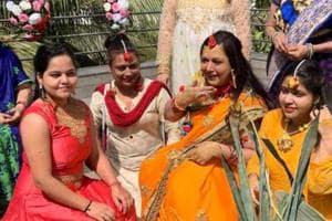 TV actor Surbhi Tiwari married boyfriend Praveen on Sunday.