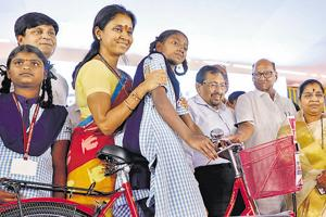 As many as 6000 bicycles were distributed among Asha workers and school girls from various areas in Baramati constituency in Pune  with financial assistance from Tata Trust and Pawar Public Charitable trust of Sharad pawar and Supriya Sule at Shivgoraksha ground, Katraj-Kondhwa road in Pune