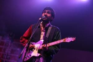 Prateek Kuhad during his performance at Reverie, the annual cultural fest of Gargi College.
