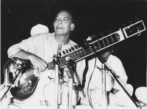 Sitar maestro Ustad Vilayat Khan.