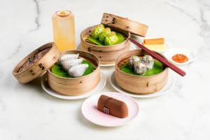 Dim Sum evolved as a sort of Chinese high tea for the weary Silk Road traveller, about a thousand years ago. Typically, the bite-sized meals are paired with steaming tea, in a repast called Yum Cha (Cantonese for Drink Tea). Above is a Yum Cha spread at Yauatcha, Mumbai, tea paired with three types of dim sum — Shiitake Mushroom, Vegetable Chive and Vegetable Crystal — followed by a signature dessert.